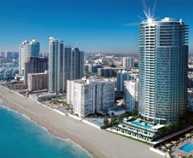 Hollywood homes. New homes at Hollywood Beach in Miami. Pre-construction new homes and condos for sale