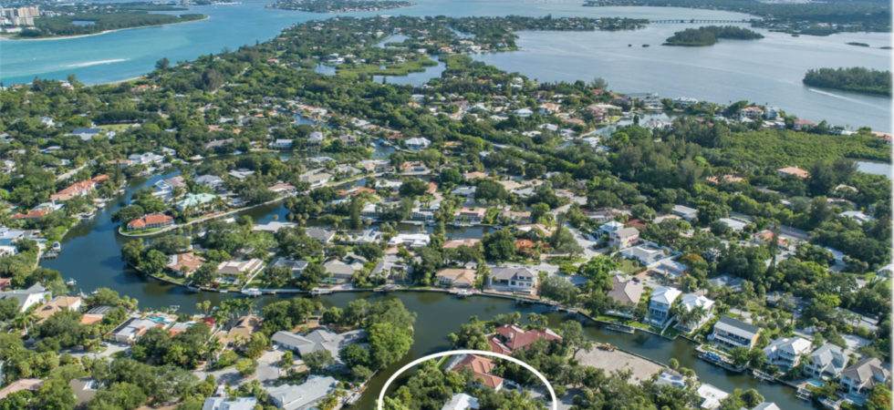 Sarasota waterfront home for sale on Siesta Key